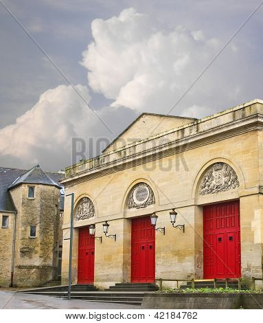 The ancient theater in Bayeux. Normandy. France poster