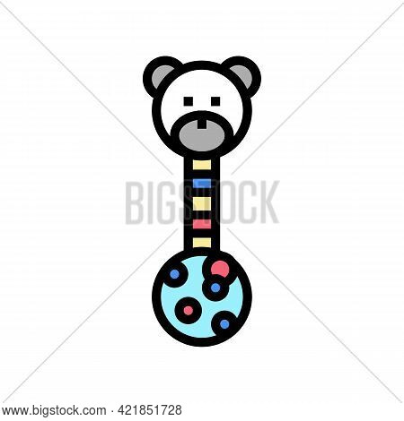 Educational Toy Baby Color Icon Vector. Educational Toy Baby Sign. Isolated Symbol Illustration