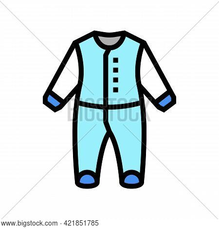 Body Clothes Baby Color Icon Vector. Body Clothes Baby Sign. Isolated Symbol Illustration