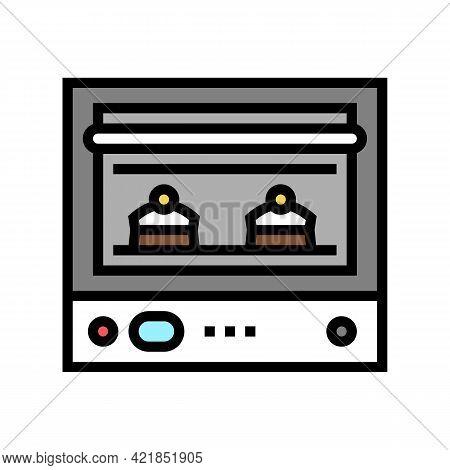 Oven Baking Dessert Color Icon Vector. Oven Baking Dessert Sign. Isolated Symbol Illustration