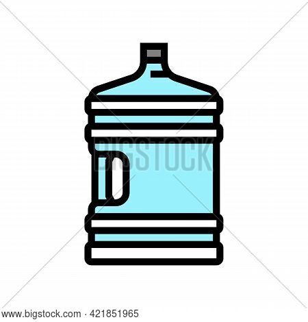 Water Bottle For Prepare Coffee Color Icon Vector. Water Bottle For Prepare Coffee Sign. Isolated Sy