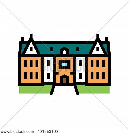 Mansion House Color Icon Vector. Mansion House Sign. Isolated Symbol Illustration