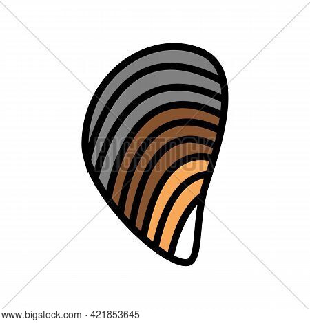 Mussels Ocean Color Icon Vector. Mussels Ocean Sign. Isolated Symbol Illustration
