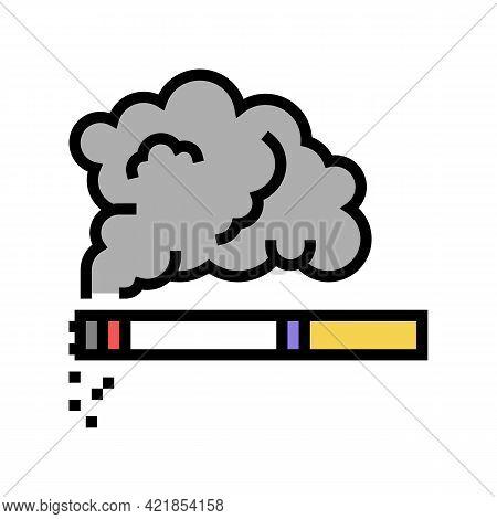 Tobacco Smoke Color Icon Vector. Tobacco Smoke Sign. Isolated Symbol Illustration