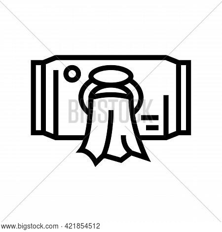 Wet Wipes Baby Line Icon Vector. Wet Wipes Baby Sign. Isolated Contour Symbol Black Illustration