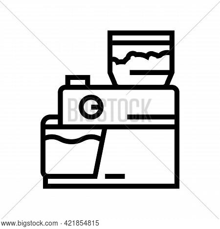 Device For Brewing Coffee Line Icon Vector. Device For Brewing Coffee Sign. Isolated Contour Symbol