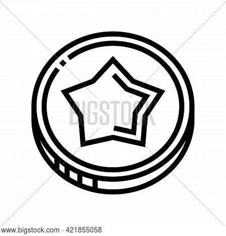 Coin Gambling Game Prize Line Icon Vector. Coin Gambling Game Prize Sign. Isolated Contour Symbol Bl