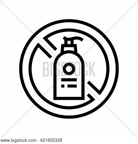 Stop Using Liquid Soap Line Icon Vector. Stop Using Liquid Soap Sign. Isolated Contour Symbol Black