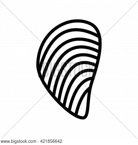 Mussels Ocean Line Icon Vector. Mussels Ocean Sign. Isolated Contour Symbol Black Illustration