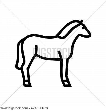 Horse Animal Line Icon Vector. Horse Animal Sign. Isolated Contour Symbol Black Illustration