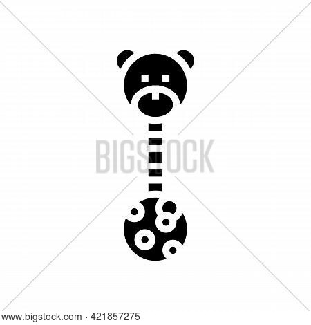 Educational Toy Baby Glyph Icon Vector. Educational Toy Baby Sign. Isolated Contour Symbol Black Ill