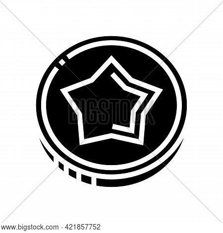 Coin Gambling Game Prize Glyph Icon Vector. Coin Gambling Game Prize Sign. Isolated Contour Symbol B