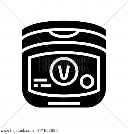 Petroleum Jelly Dry Skin Treat Glyph Icon Vector. Petroleum Jelly Dry Skin Treat Sign. Isolated Cont