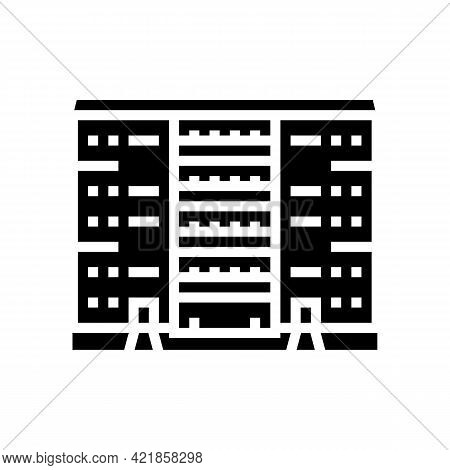 Cooperative House Glyph Icon Vector. Cooperative House Sign. Isolated Contour Symbol Black Illustrat