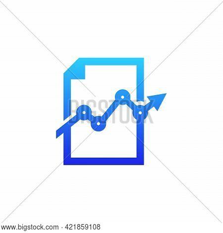 Stats Document Logo Designs Vector, Finance Book Logo, Stats Data Logo Designs Concept Template