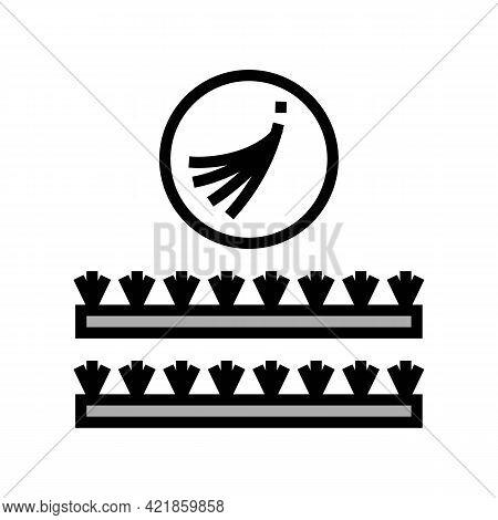 False Eyelashes Set Color Icon Vector. False Eyelashes Set Sign. Isolated Symbol Illustration