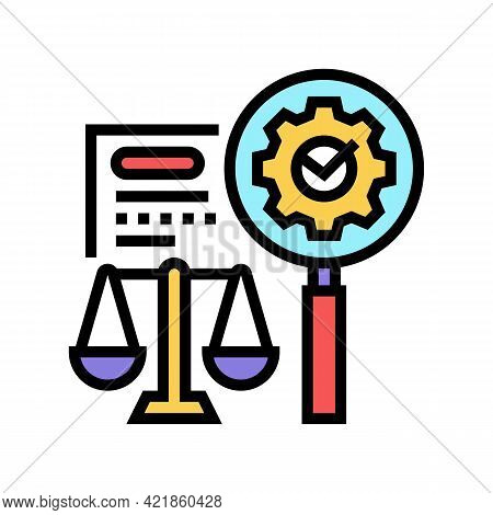 Expertise Law Color Icon Vector. Expertise Law Sign. Isolated Symbol Illustration