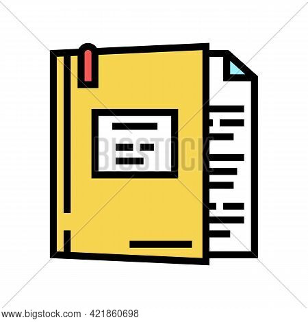 Case Law Color Icon Vector. Case Law Sign. Isolated Symbol Illustration