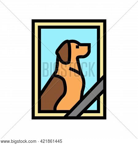 Dead Dog Pet Photo Color Icon Vector. Dead Dog Pet Photo Sign. Isolated Symbol Illustration