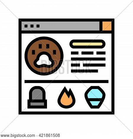 Service Pet Funeral Color Icon Vector. Service Pet Funeral Sign. Isolated Symbol Illustration