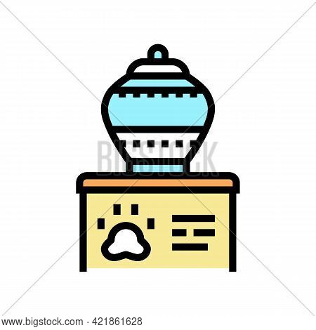 Memorial Urn Color Icon Vector. Memorial Urn Sign. Isolated Symbol Illustration