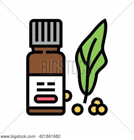 Natural Vitamins Phytotherapy Color Icon Vector. Natural Vitamins Phytotherapy Sign. Isolated Symbol