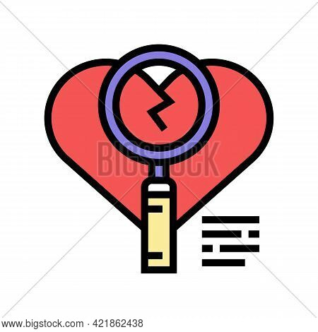 Investigation Of Infidelity Color Icon Vector. Investigation Of Infidelity Sign. Isolated Symbol Ill