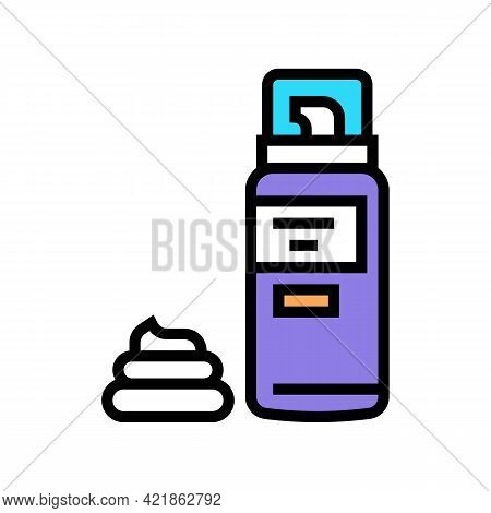 Foam For Shave Color Icon Vector. Foam For Shave Sign. Isolated Symbol Illustration