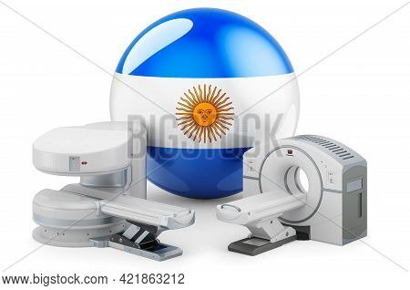 Mri And Ct Diagnostic, Research Centres In Argentina. Mri Machine And Ct Scanner With Argentinean Fl