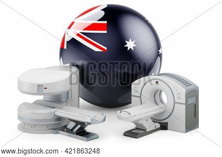 Mri And Ct Diagnostic, Research Centres In Australia. Mri Machine And Ct Scanner With Australian Fla