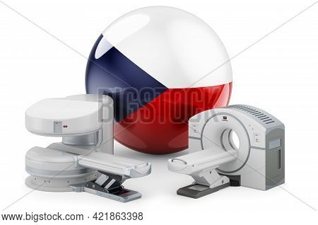 Mri And Ct Diagnostic, Research Centres In Czech Republic. Mri Machine And Ct Scanner With Czech Fla