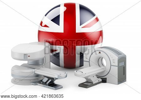 Mri And Ct Diagnostic, Research Centres In The Great Britain. Mri Machine And Ct Scanner With Britis