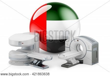 Mri And Ct Diagnostic, Research Centres In The Uae. Mri Machine And Ct Scanner With The United Arab