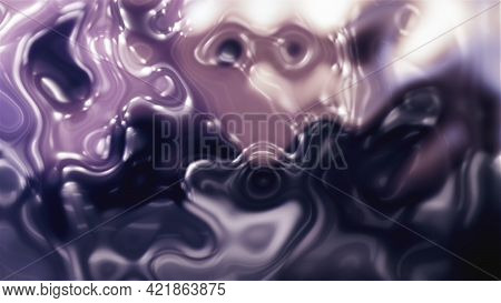 Powerful 3d Render Streams Wiggly Lines With Blurred Gradient. Growing Solar Storm With Movement Swi