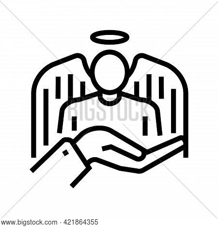 Innocent Law Line Icon Vector. Innocent Law Sign. Isolated Contour Symbol Black Illustration