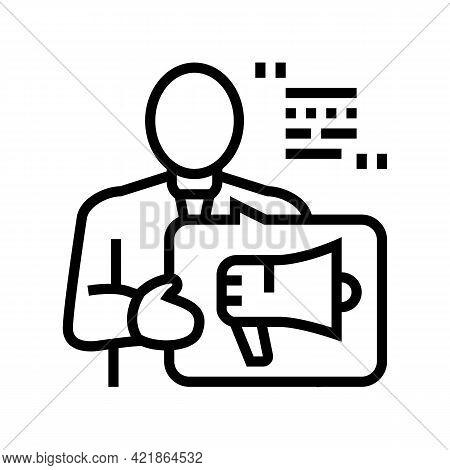 Advisor Law Line Icon Vector. Advisor Law Sign. Isolated Contour Symbol Black Illustration