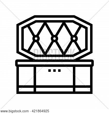 Coffin Pet Funeral Line Icon Vector. Coffin Pet Funeral Sign. Isolated Contour Symbol Black Illustra