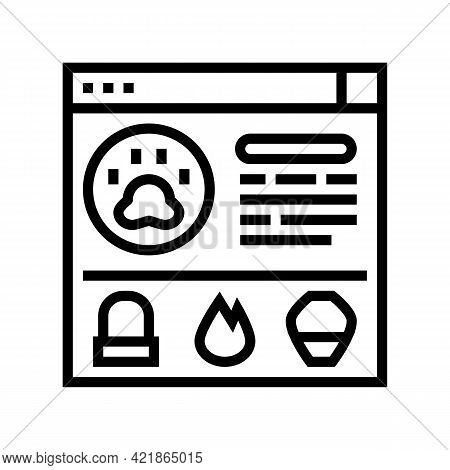 Service Pet Funeral Line Icon Vector. Service Pet Funeral Sign. Isolated Contour Symbol Black Illust