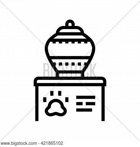 Memorial Urn Line Icon Vector. Memorial Urn Sign. Isolated Contour Symbol Black Illustration