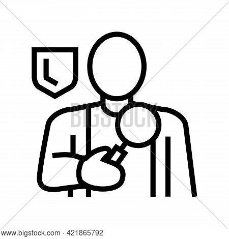 Corporate Surveillance Line Icon Vector. Corporate Surveillance Sign. Isolated Contour Symbol Black