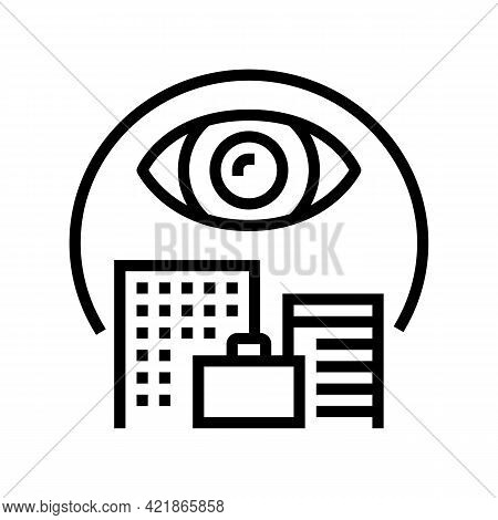 Open Operations Line Icon Vector. Open Operations Sign. Isolated Contour Symbol Black Illustration