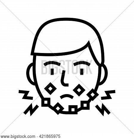 Injury Face After Shave Line Icon Vector. Injury Face After Shave Sign. Isolated Contour Symbol Blac