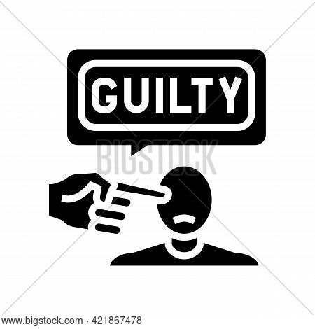 Guilty Law Glyph Icon Vector. Guilty Law Sign. Isolated Contour Symbol Black Illustration