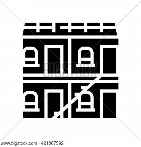 Building Hotel Glyph Icon Vector. Building Hotel Sign. Isolated Contour Symbol Black Illustration
