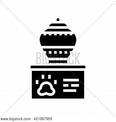 Memorial Urn Glyph Icon Vector. Memorial Urn Sign. Isolated Contour Symbol Black Illustration