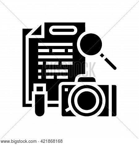 Collection Of Evidence Glyph Icon Vector. Collection Of Evidence Sign. Isolated Contour Symbol Black