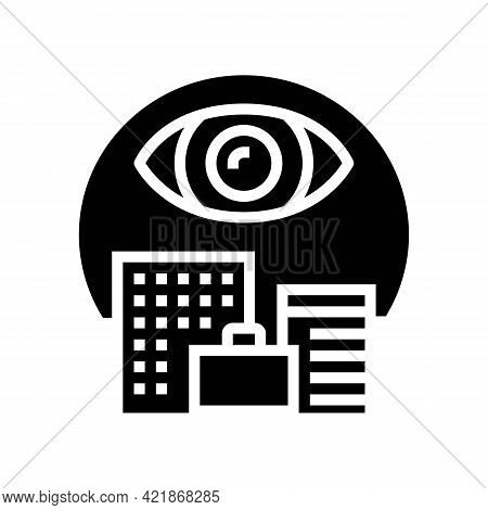 Open Operations Glyph Icon Vector. Open Operations Sign. Isolated Contour Symbol Black Illustration