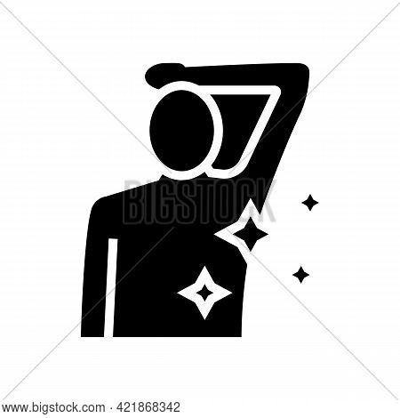 Axilla Shaved Glyph Icon Vector. Axilla Shaved Sign. Isolated Contour Symbol Black Illustration