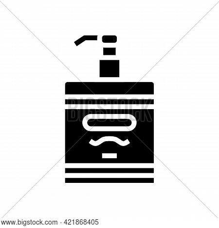 Lotion After Shave Glyph Icon Vector. Lotion After Shave Sign. Isolated Contour Symbol Black Illustr