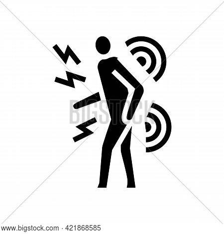Human Back Stroke Glyph Icon Vector. Human Back Stroke Sign. Isolated Contour Symbol Black Illustrat